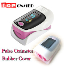 with Rubber Cover New Verstion Pulse Oximeter Blood Oxygen Saturation Monitor(China)