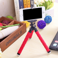 Phone Holder Mini Flexible Leg Octopus Tripod Bracket Selfie Stand Mount Monopod Styling Accessories For Mobile smartPhone(China)