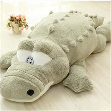 Free Shipping One Piece High Quality Large Crocodile Plush Dolls Super Soft PP Cotton Pillow Crocodiles Kids Toys 2 Colors