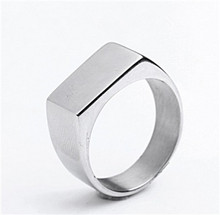 Tiger Totem free shipping quality Individuality Fashion trend wholesale Smooth square ring Titanium steel sell well accessories(China)