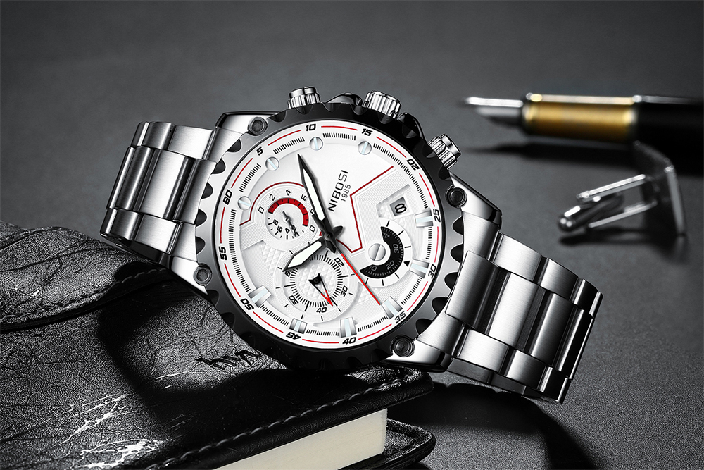 Military Watches Men Quartz Analog Men Watches Stainless Steel Time Date Clock Men Luxury Brand Hot Famous Brand Watches NIBOSI  (14)