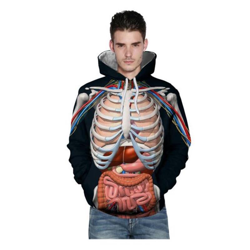 Großhandel 2018 Mode 3d Menschlichen Anatomie Hoodie Hoodies ...