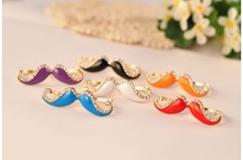 cute bear shape double ring with crystal for men and women 5 colors party jewelry wholesale(China)
