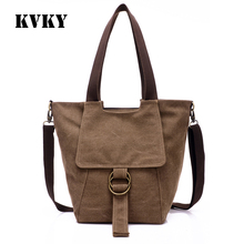 Sky fantasy fashion canvas vintage solid plain women shoulder bag vogue causal tote classic crossbody girl messenger bag handbag