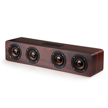 MoreBlue W8-S Wooden Wireless Bluetooth Speakers Four Horns Subwoofer Portable Stereo Super Bass Speaker For TV Phone PC(China)