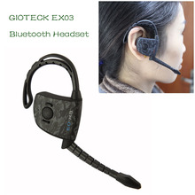 GIOTECK EX03 Wireless Stereo bluetooth headset for iphone can connect 2 phones Gaming Headphone ex-03 for PS3 free shipping(China)