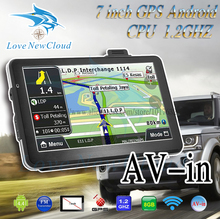 Oriana 7 inch Car GPS Navigation Android Bluetooth WIFI Russia Navitel/Europe map Truck Vehicle gps Navigator sat nav Built 8GB(China)
