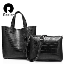 REALER brand  fashion women handbag high quality serpentine women totes ladies vintage shoulder bag