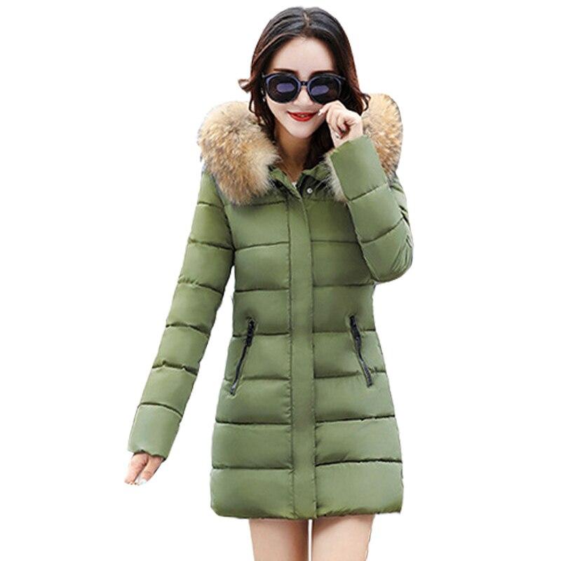 New Fashion Winter Jackets Women Autumn Mid-Long Coats With High Quality Female OutwearÎäåæäà è àêñåññóàðû<br><br>
