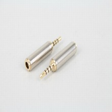 free shipping 1pcs Phone Earphone Adapter 2.5mm male to 3.5mm female adapter 2.5 to 3.5 Male to Female Jack connector socket AUX