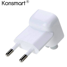 KONSMART Original EU Plug duck Head fork charger for iPad MacBook Air Pro MagSafe 2 Detachable AC Wall Charger Euro Plug Adapter(China)