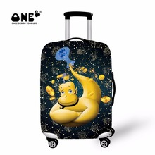 ONE2 2017 New Design luggage cover print with Genius from Aladdin about Aquarius of Twelve Constellations suitcase cover zipper