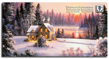 Winter Scenery snow house Diamond embroidery painting full rhinestone Handicraft pattern hobby Home decoration Crass landscaping