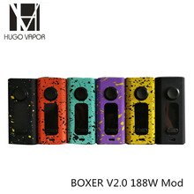 Buy Original Hugo Vapor Boxer V2.0 188W Box Mod Electronic Cigarette Mod Support 2x 18650 (not included) TC Vape Modes Zinc Alloy for $32.00 in AliExpress store