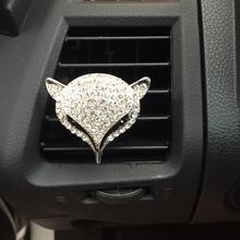 Rhinestone fox car perfume car vehicle air conditioning outlet perfume clip lady car accessories Car-styling Parfum