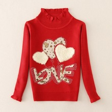2017 New autumn and winter girls' sweaters cotton fashion children clothins children cotton sweaters4-10years child