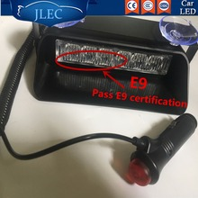 2017 Car-styling Bright 6 LED Car LED DRL Daytime Running Lights Police Lights Bar Strobe Lamps Flash Strobe Emergency Lightbars(China)