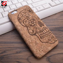 2017 U&I New Cork Wood Grain Design Soft TPU Fiber Crack Any Carvings Pattern Back Phone Cover for iPhone 5 5S SE 6 6S 7 7plus(China)