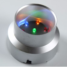 Multicolor LED Plastic Light Base/Stand Crystal Ball Display Base(China)