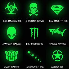1pc Glow in Dark Cartoon Pattern Sticker Decorative Films Wall Bicycle Phone Fridge Car Switch Kid Room Decor, 19 Optional Style(China)