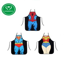 Kitchen Aprons Funny Novelty BBQ Women Apron Naked Men Women Sexy Rude Cheeky Kitchen Cotton Apron Cartoon Pattern