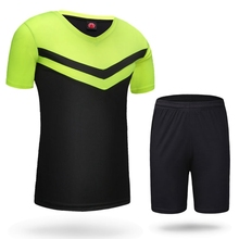 Brand New NEW men boys soccer sets training tracksuits jerseys sport skits shorts Football Soccer jersey shirt summer football j(China)