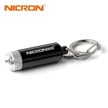 NICRON 0.25W Hot Sale Supoer Mini Flashlight Convex Mirror LED Micro Keychain Flashlight Lamp Light Torch Carabiner G10A