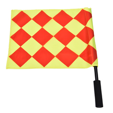 Sponge Cloth Referee Flag Soccer The World Cup Fair Play Sports Match Football Linesman Flags Referee Equipment + Carry Bag