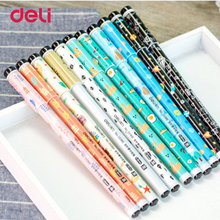 Deli gel pens 24 Pcs/Set 0.35mm Pens For School Supplies Flexible Gel pens For Office Supplies Desk Accessories Stationery(China)