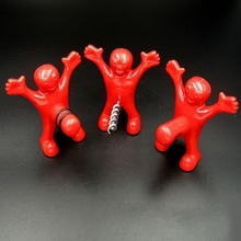 Funny Red Man Bottle Opener Cork Red Wine Beer Soda Bottle Stopper For Kitchen Tools Perky Gifts Kitchen Gadgets Plug(China)