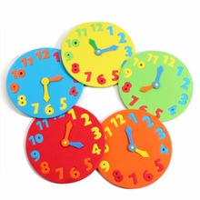 1PCS Clock Learning Toys Foam Clock Early Education Fun Jigsaw Puzzle Game for Children 3-6 years old(China)
