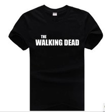 TV the walking dead Evil Power t shirt DIY 100% Cotton shrts custom Logo shirts design Plus Size T-shirts Free Shipping