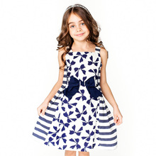 CHNDKNY 3-12 Years Brand Baby Girls Dresses Summer 2017 Kids Bow Princess  for Toddler Girl Children Birthday Party Costumes