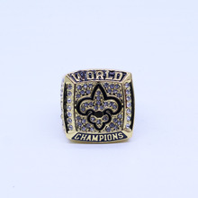 2009 New Orleans Saints Super Bowl 44 world championship rings replica BREES free shipping for man's gift with box(China)