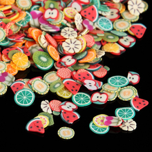1000Pcs/Bag Nail Art Polymer Clay Canes Fruit fimo slice Set Gel Polish Tips Fashion DIY Cute Summer Watermelon Decor Decals Kit