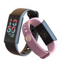 Washion Colourful Touch Screen Smartband Blood Pressure Smart Wristband Heart Rate Tracker Fitness Bracelet Activity Tracker(China)