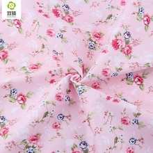Rose Floral Cotton Fabric Meter DIY Tilda Fabric Textiles Sewing Patchwork Fabric For Patchwork Baby Clothes Quilting 50X160CM(Hong Kong)