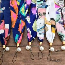 2017 Spring Fashion Scarf colorful Cell Phone Lanyard Cords Strap for iphone 7 plus samsung S8 ID Pass Card Badge Gym Key Clasp(China)