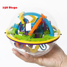 158 Levels 3D Magic Perplexus Maze Ball Intellect Ball Rolling Ball Puzzle Cubes Game IQ Puzzle Funny Balance Educational Toys(China)