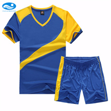 2017New Style Kids Team Short-Sleeve Sets Soccer Jersey Suits Blank Boys Survetement Football Sports Training Tracksuit Printing