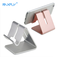 RAXFLY Aluminum Alloy Desk Phone Stand Holder For iPhone 6 6s 7 Plus 5S SE Universal Tablet Bracket Desktop Mobile Phone Holder(China)