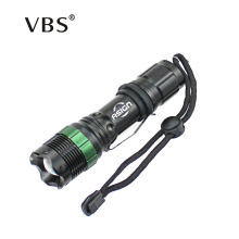 LED Flashlight CREE Q5 / XM-L T6 1000lm/2000Lumens LED Torch Zoomable Cree LED Flashlight use Battery 3xAAA or 1x18650
