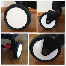 BABYYOYA Baby Strollers Front Wheels Pushchair Back Rubber Wheel Kids Yoya Pram Stroller Accessories For Carriage with tools(China)