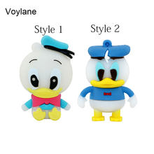 Free shipping cartoon role Donald Duck USB Flash Drive cartoon Pen drive 8gb 16gb 32gb cool Gift Animal pendrives usb creativo