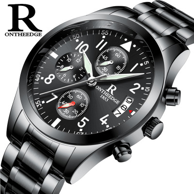 2017 Mens Military Watches Top Brand Quartz Analog waterproof watch Men full steel Clock Man Sports Watches Relogios Masculino <br>