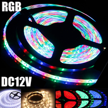 RGB LED Strip 2835 LED DC 12V 5M 4M 3M 2M 1M 0.5M Waterproof Fita LED Light Neon Flexible Tape Tira Ledstrip Christmas Luz