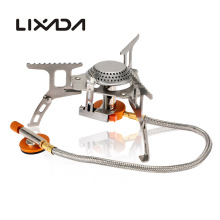 Lixada Camping Gas Stove Outdoor Cooking Portable Foldable Split Burner Portable Gas Stove Camping Equipment Hiking Picnic 3000W(China)