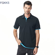 FGKKS 2017 Brand New Mens Polo Shirt Men Cotton Short Sleeve Shirt Polo Jerseys Golftennis Plus Size XS-3XL Camisa Polo Male