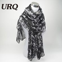 2016 fashion flower viscose scarf women long soft spring shawls best gift for ladies brand scarves echarpe V8A18443(China)