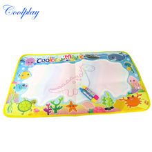 Coolplay 59x36cm multicolor rainbow water drawing mat with 2 pen water doodle mat rug for painting Xmas gift for kids CP2323-2(China)